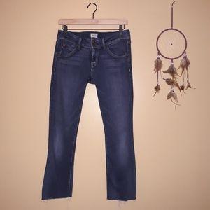 Hudson Jeans Raw Ankle Hem Flap Pocket Skinny Jean